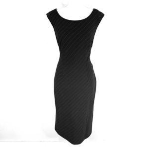 NWT Nicole Miller New York black wool sheath dress